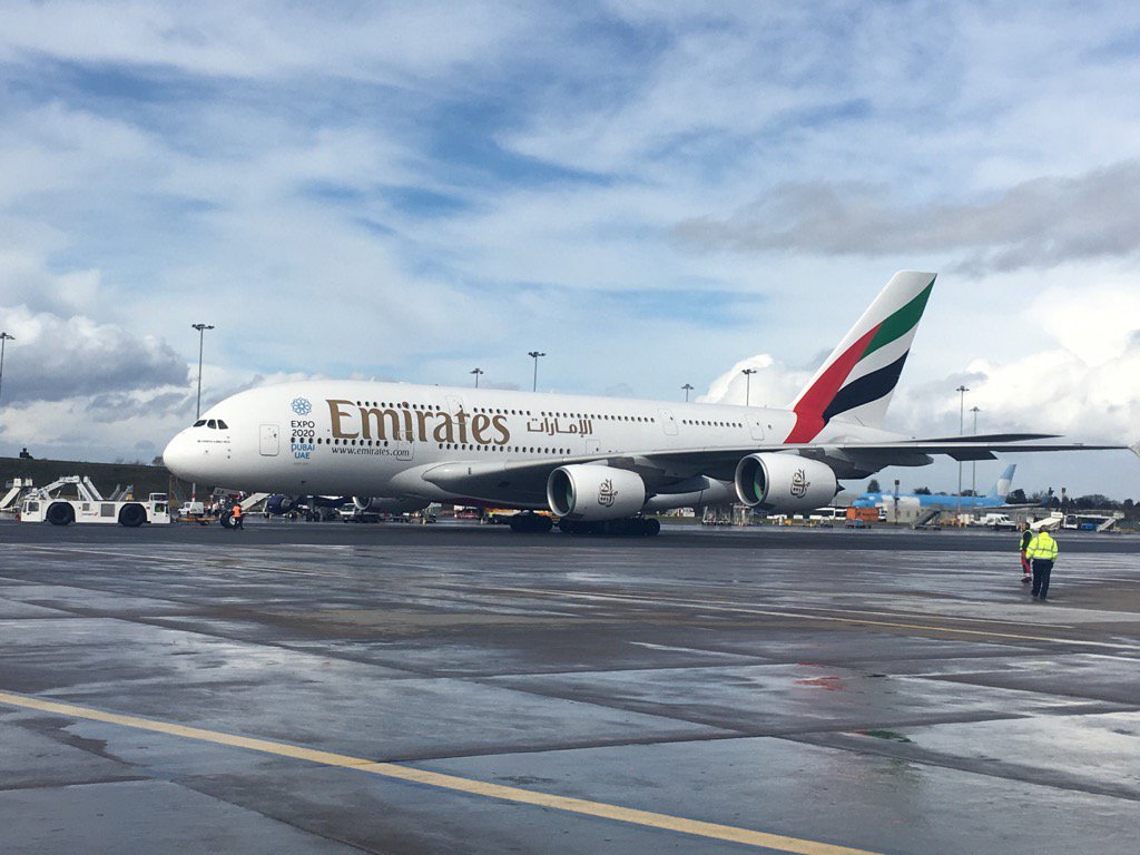 The #A380Birmingham has just pushed back, not long until take off! Get your cameras ready! https://t.co/ztq7RXLYE4