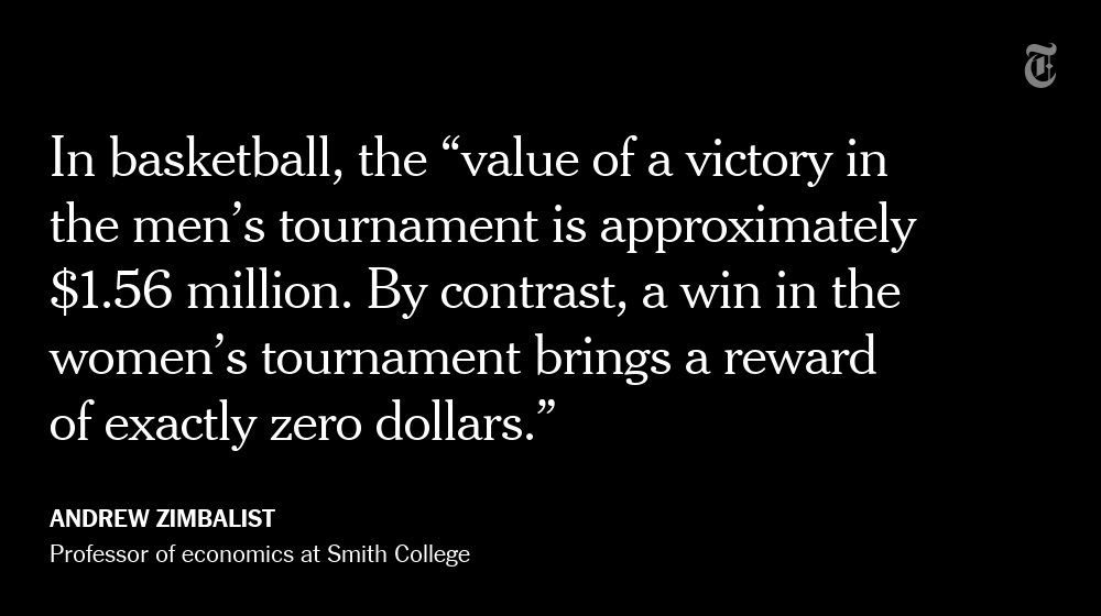 Why the NCAA needs to reward women for their victories via @nytopinion
