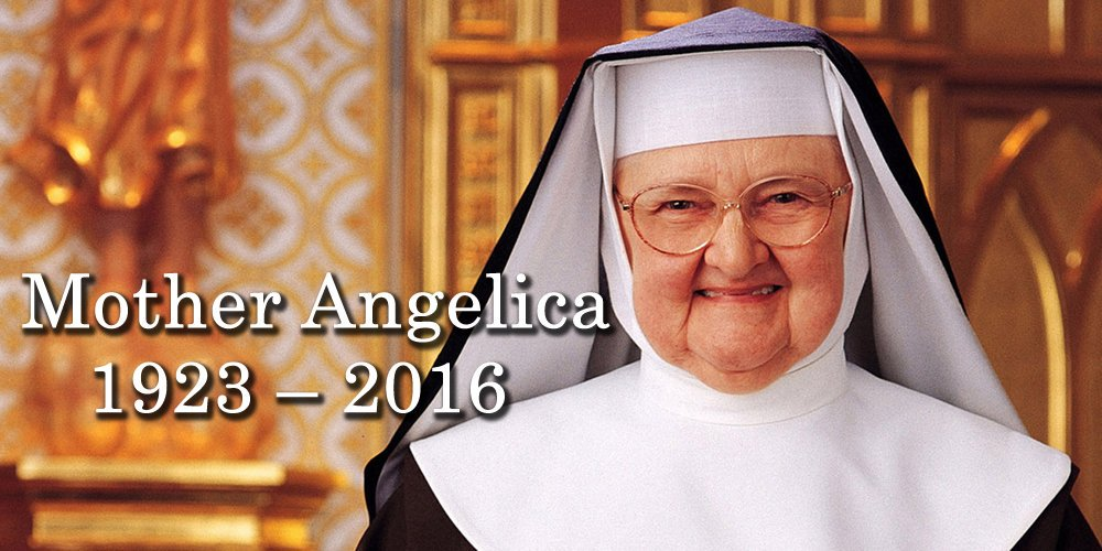 It is with a heavy heart that i announce the passing of my friend and beloved foundress, Mother Mary Angelica. RIP https://t.co/WBzGfCkpPd