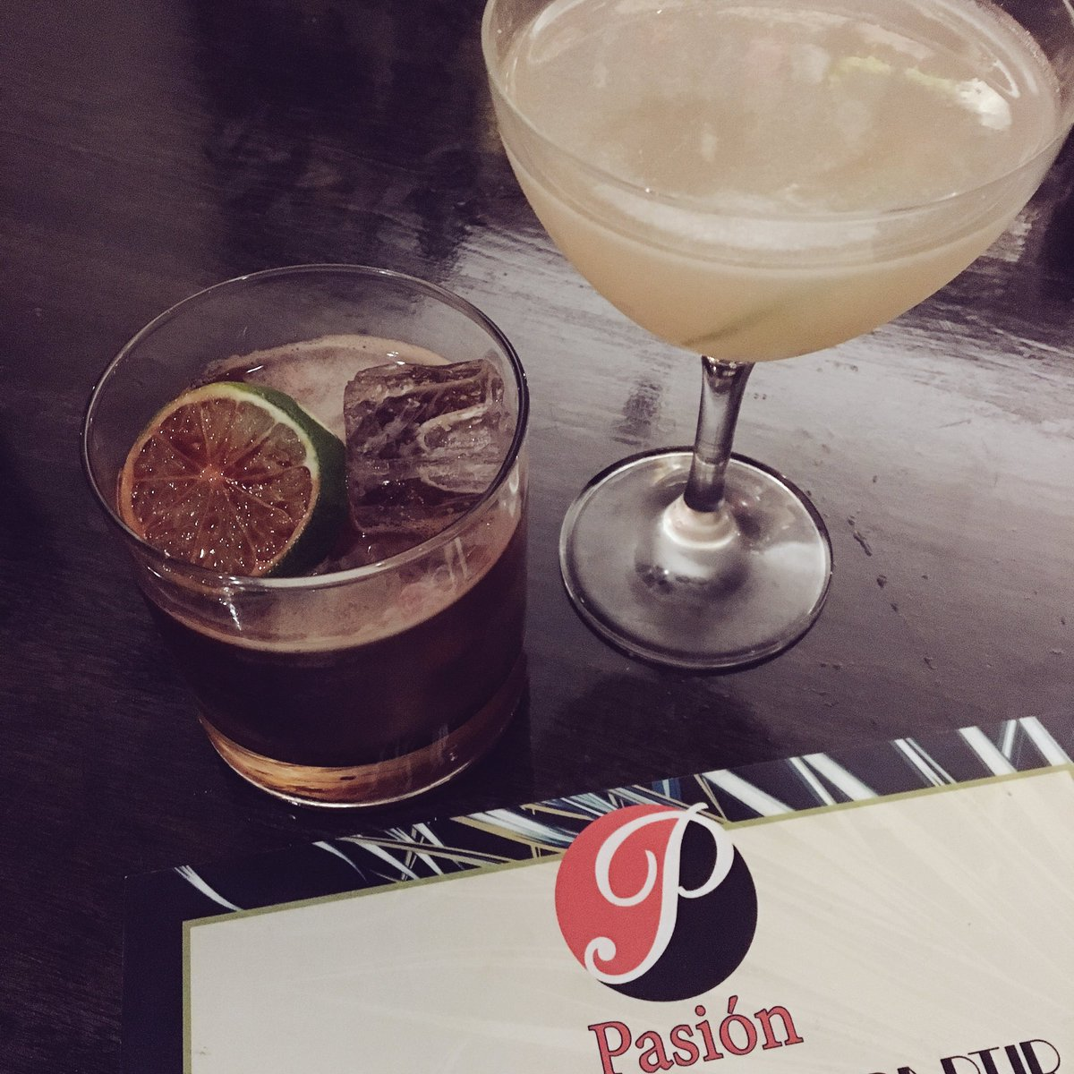 Sipping Corn & Oil, Hemingway #cocktails w/ best #rum in world @donqrum #pasionbuffalo #buffalo https://t.co/fQGn8lBz9e