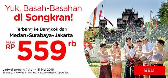 Sebentar lagi akan ada Festival Songkran di Thailand. Persiapkan diri Anda, pesan tiket di