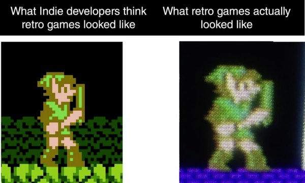 Kids these days. You keep drawing these pixelated game objects like they existed. They never did, I never saw them. https://t.co/UFrBCLel62