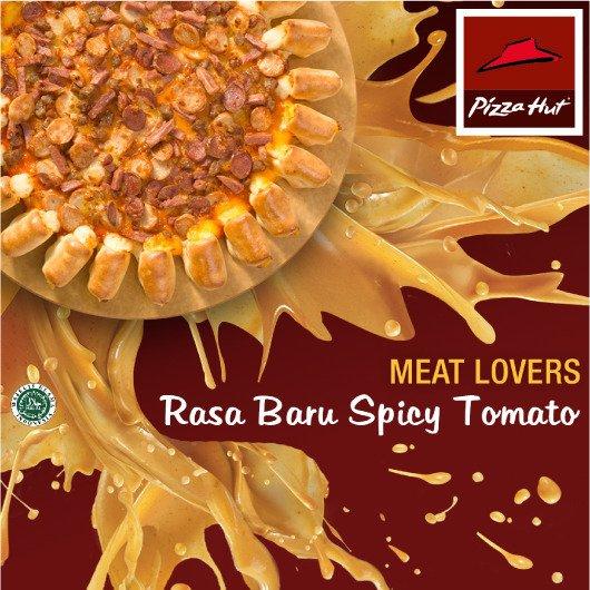 Meat Lovers Pizza rasa baru Spicy Tomato utk ukuran & pinggiran pizza apa saja. Rasa Pedas Gurih yang pas. https://t.co/2DRCGiNf7s