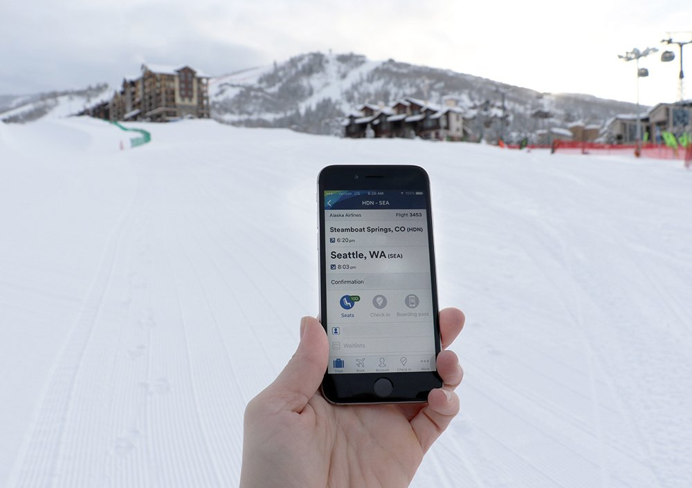 Spend more time on the slopes when you use our mobile app.