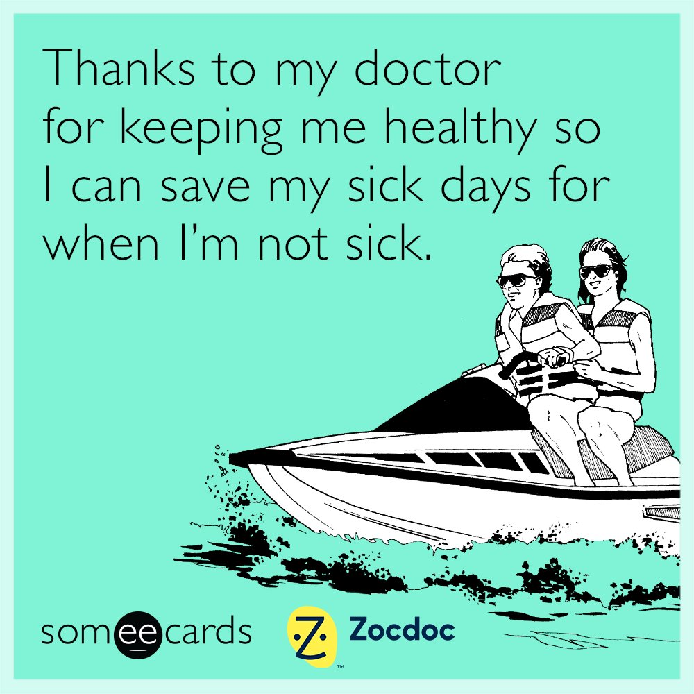 Natl Doctor's Day is March 30th, NCAA Championship is April 4th so April 5th is Call In Sick Day right? #doctorsday https://t.co/FpAedM5BlX