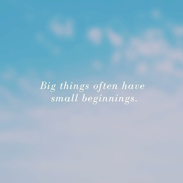 Big things often have small beginnings. https://t.co/ypssAt4ILr https://t.co/CMJSo9VNne