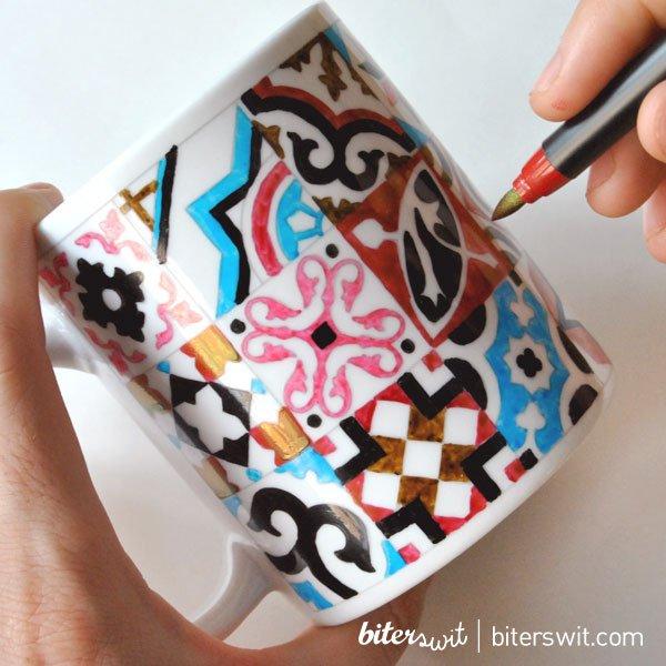 Kits DIY para pintar tazas originales con rotuladores ceràmicos