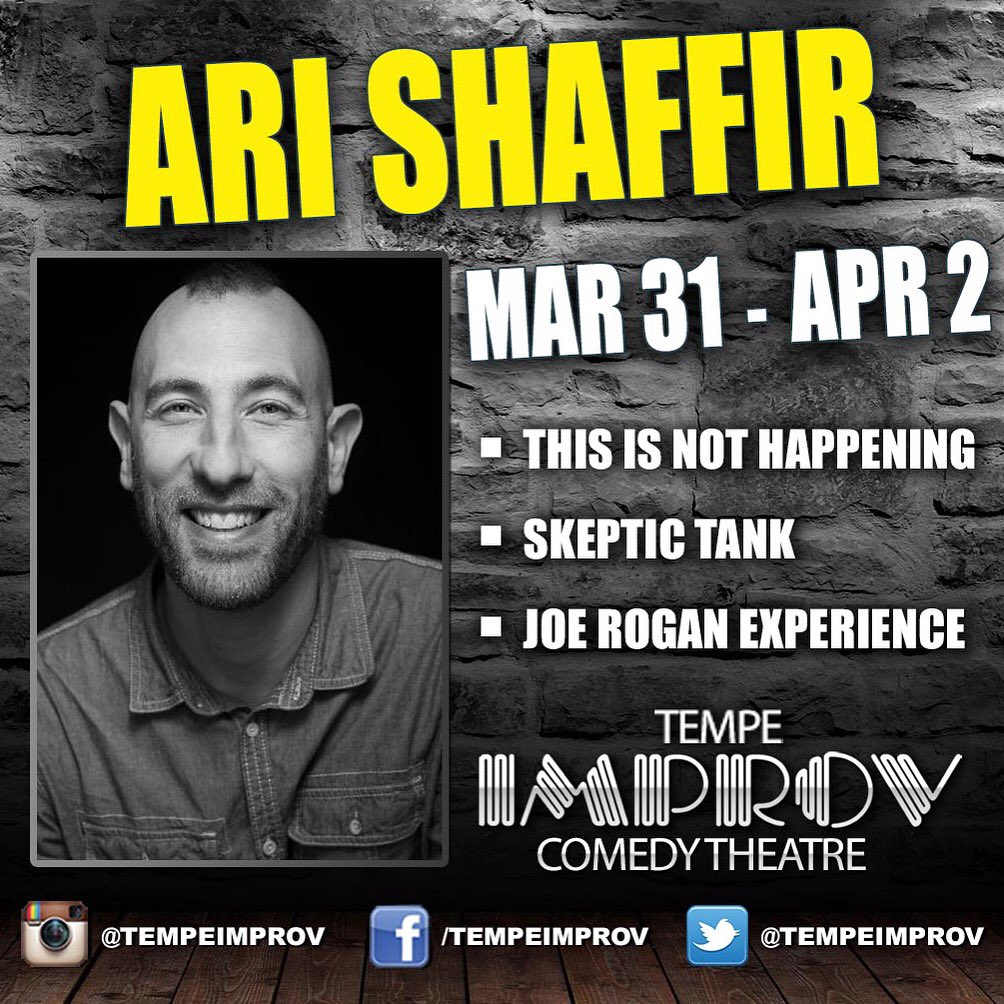 @AriShaffir is definitely someone worth seeing this weekend. #thisisnothappening #skeptictank & @JREpodcast https://t.co/MSdyaetFGG