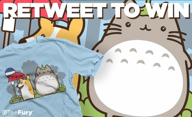 """Retweet and enter to win today's """"My Fluffy Neighbor"""" tee! Giveaway closes tonight 3/28 9PM PST! (2 winners) https://t.co/WSBB3vfb0J"""