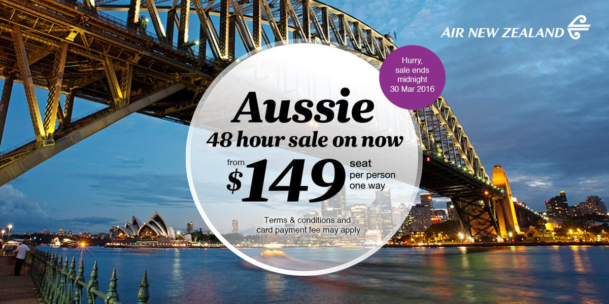 Grab some great fares to Australia with our 48hr sale. Get in quick, sale ends tomorrow! https://t.co/tDw2dvVpW9 https://t.co/rNkoMsegoB