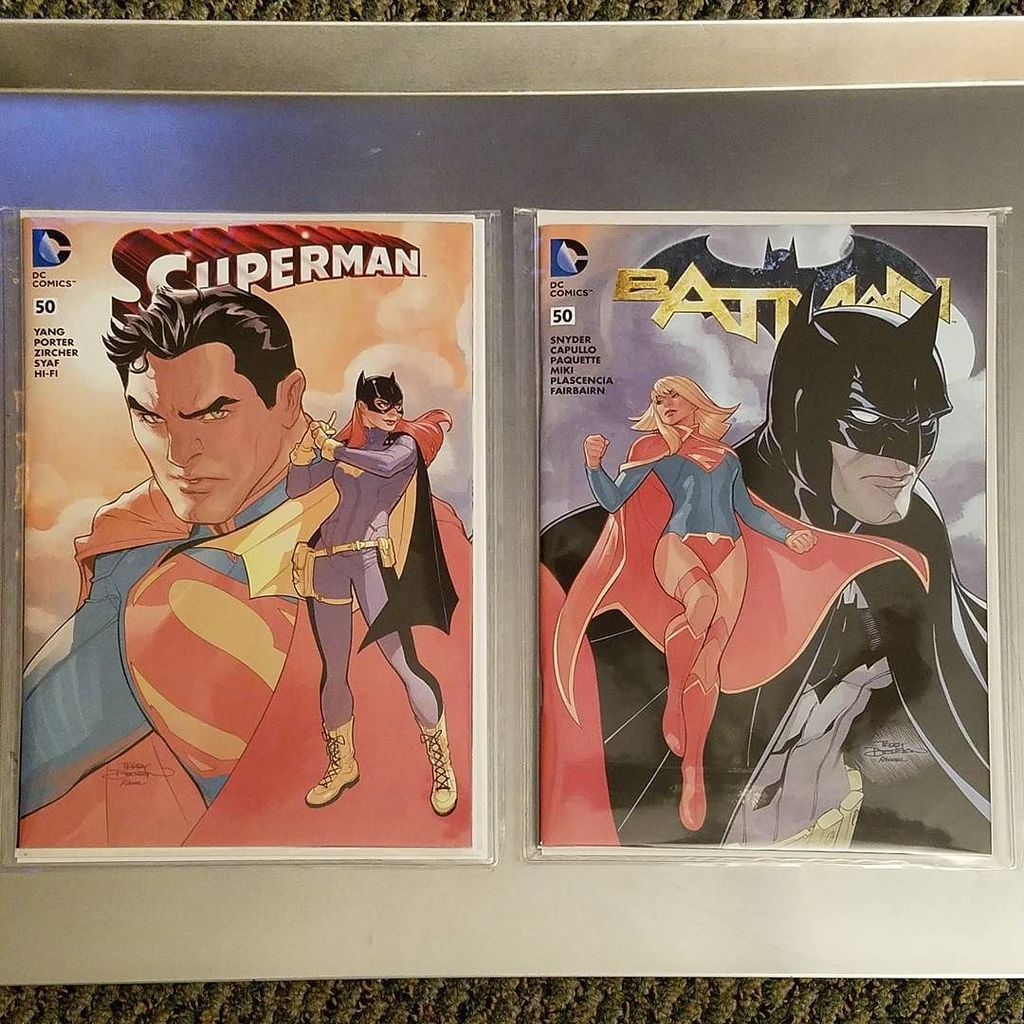 #Superman & #Batman No.50 @MidtownComics connecting variant by @TerryDodsonArt https://t.co/zuZ8cmpaGa https://t.co/MH7O09ma5Z
