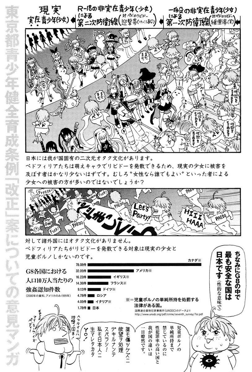 今回の女子高生アニメの件はこれを思い出だす。日本ではこういう縮図で犯罪が抑えられている気がするんですがね。オタクはちゃん