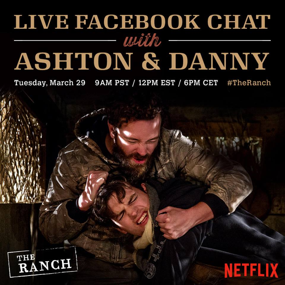 Danny & I are hosting a LIVE CHAT tmrw @ 9am pst about life on #TheRanch. Join us here: https://t.co/OUa2Zi3r4W https://t.co/P5T1kvSU4T