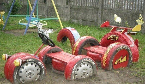 Поделки из шин на детскую площадку