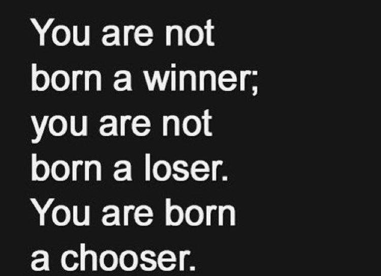 """""""No naces siendo ganador, no naces siendo perdedor... Naces para elegir"""" Que tengan un excelente día! https://t.co/BPW0HbRnYn"""