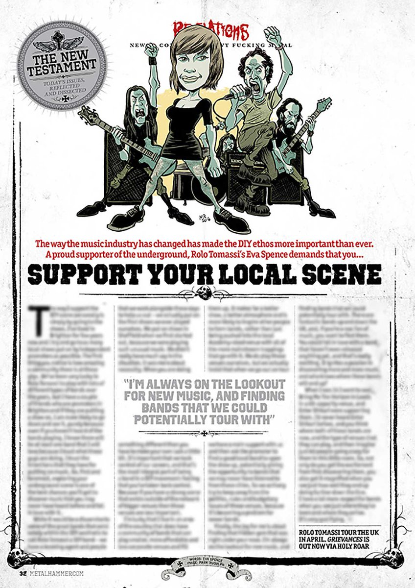 Check out the new @MetalHammer for an interview we contributed to on supporting your local scene. https://t.co/36xPIgfCZF