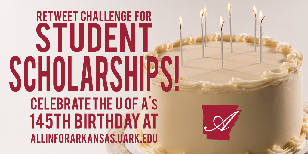 #Allin4Arkansas Twitter Challenge! 200 retweets will unlock $1,000 for student scholarships! https://t.co/fCfX6VT1uM