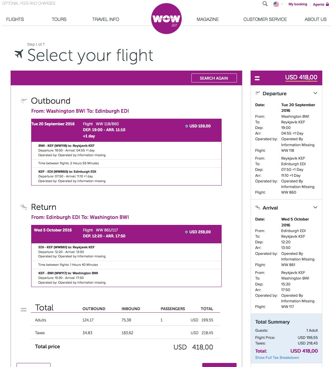 RT @airfarewatchdog: Baltimore BWI to Edinburgh EDI $418 round-trip on WOW air for Sept/Oct travel