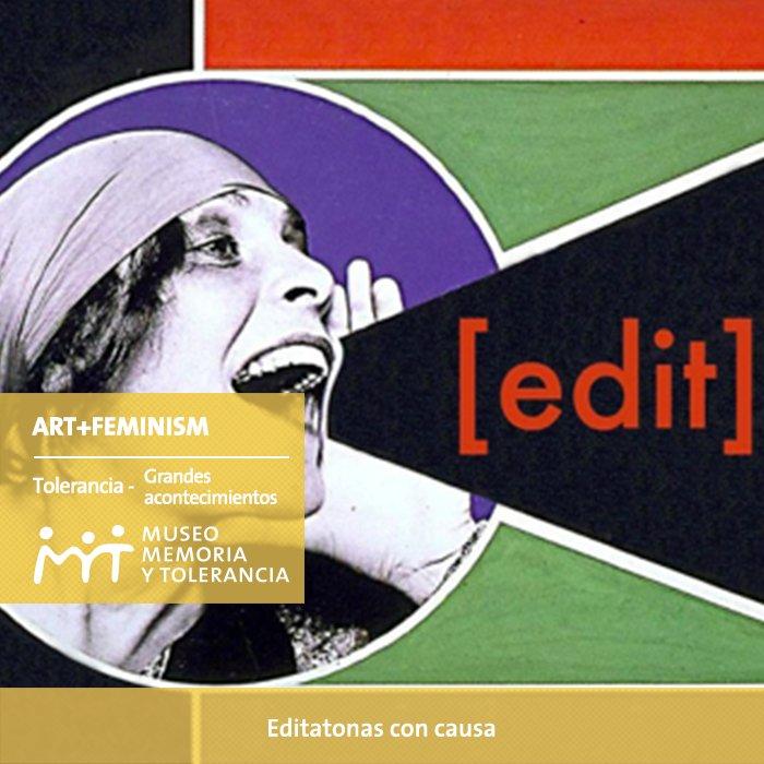 @artandfeminism iniciativa global para crear y mejorar entradas en #Wikipedia. Equilibrando disparidades de género.
