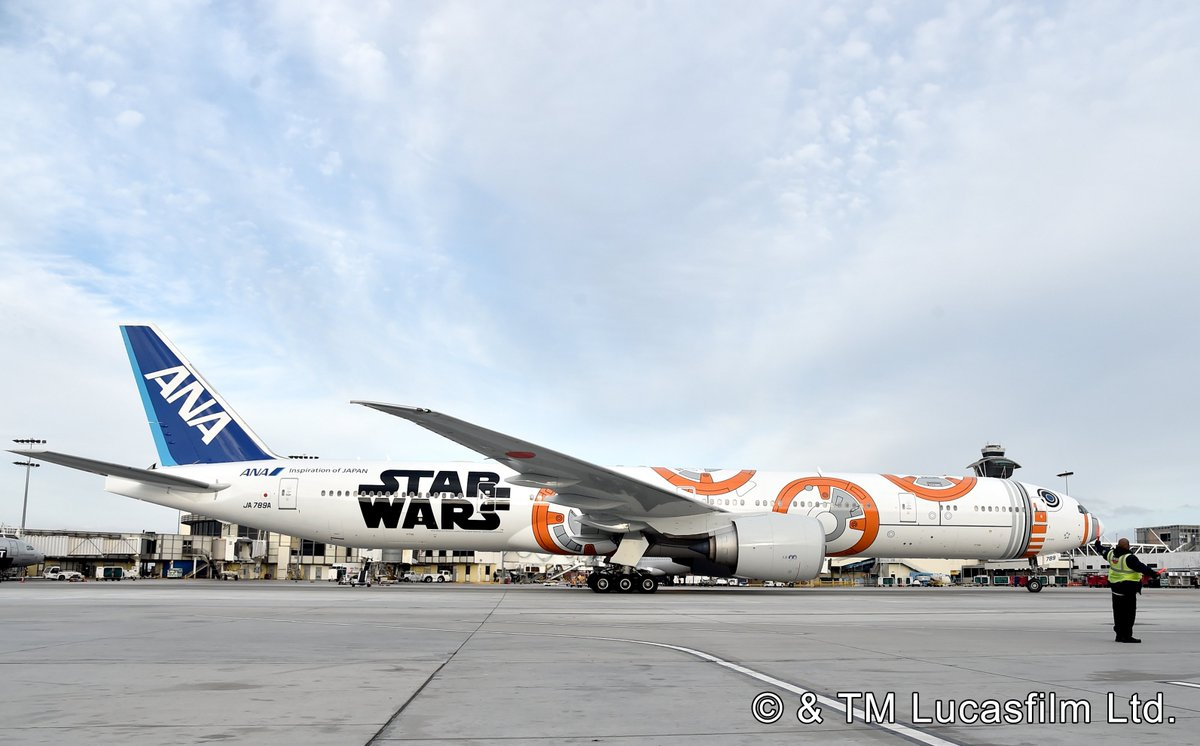 RT @FlyANA_official: The BB8ANAJET arrived in LA last night. It'll be flying to JFK, IAD, ORD, IAH soon! https://t…