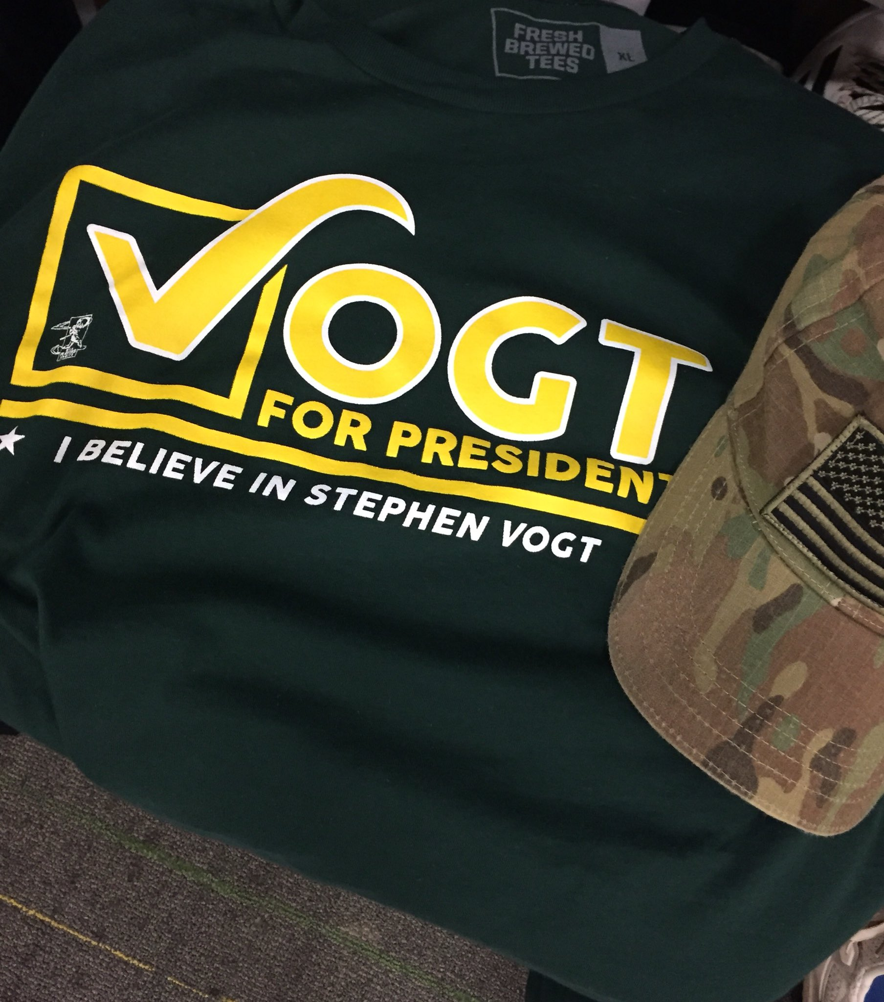 After careful consideration, I am proud to endorse Stephen Vogt for President! #Vote4Vogt #IBelieve #America ���� https://t.co/7bSSQdHalc