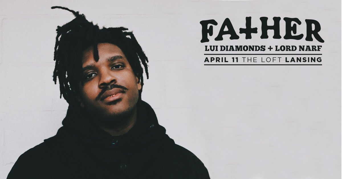 RETWEET for a chance to win a pair of tickets to see @father @LuiDiamonds @LordNarf at @TheLoftLansing! https://t.co/mDDhX0JrY7
