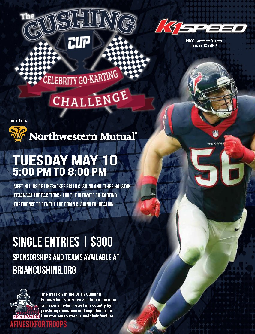 .@HoustonTexans LB @briancushing56 to Host the Cushing Cup Celebrity Go-Kart Challenge - https://t.co/ZHRZbdcp5v https://t.co/bLYfDtgnqx