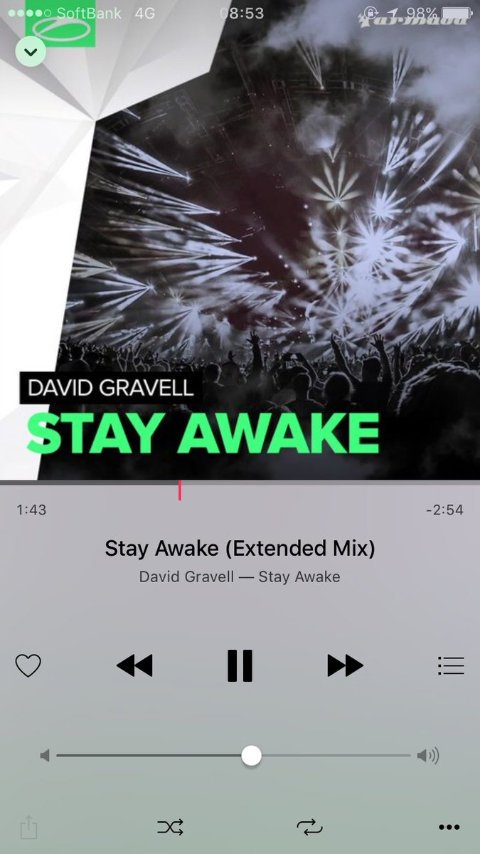 #nowplaying Stay Awake (Extended Mix) by @DavidGravell #TranceFamily https://t.co/7XmNE1kKDq