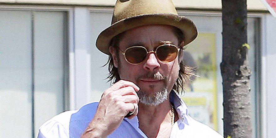 Brad Pitt shows he's a regular Joe with a visit to a London hardware store