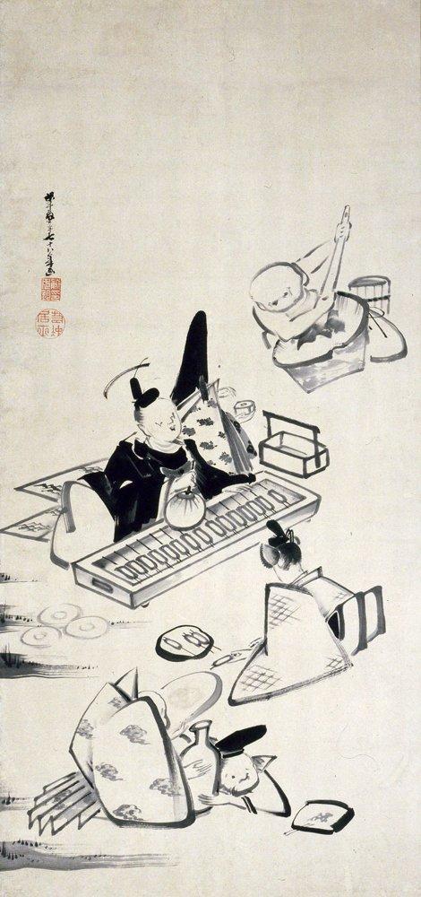 次回コレクション展(4/1-)は、特集「木村定三コレクションによる生誕300年蕪村・若冲と江戸絵画」。本日はそのなかから、伊藤若冲《六歌仙図》についてちょっと作品解説(ネタバレ?)をしたいと思います。#MuseumWeek https://t.co/MAOpVHHtiY