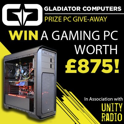Head to https://t.co/xfT686LyeC for your chance to WIN a FULL GAMING RIG @GladiatorPC @club_cars_taxis #vrready https://t.co/waSDT48nYV