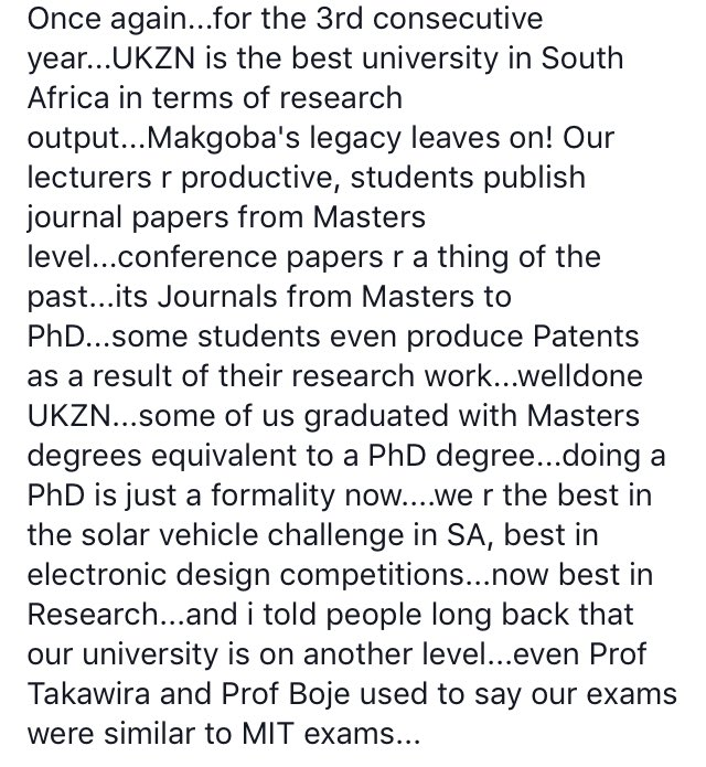 UKZN top research university YET AGAIN! They really need some good Marketing and PR! https://t.co/kxn45QzzkL