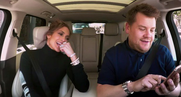 Leonardo DiCaprio sends the BEST TEXT to Jennifer Lopez while she's doing Carpool Karaoke