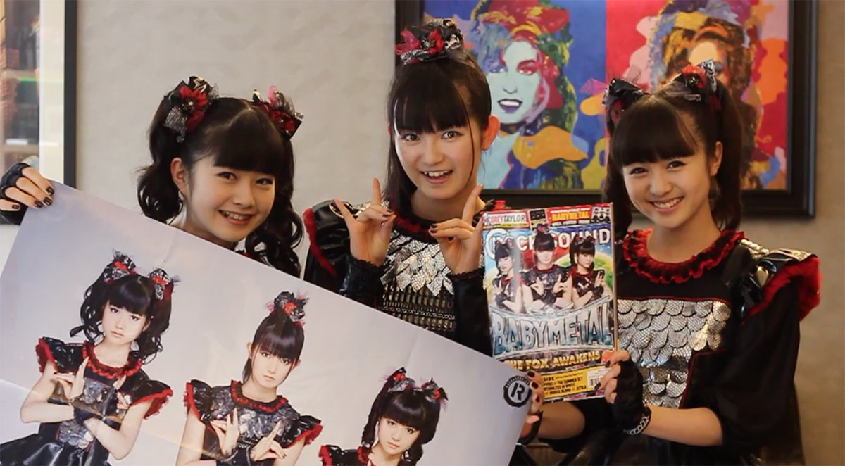 They have theirs. Get your @BABYMETAL_JAPAN magazine + GIANT poster worldwide: https://t.co/RlfWx...