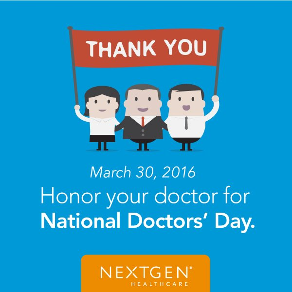 Honoring physicians, their work &  their contributions to society & the community. Thank you! #NationalDoctorsDay https://t.co/DdtjEWeCVf