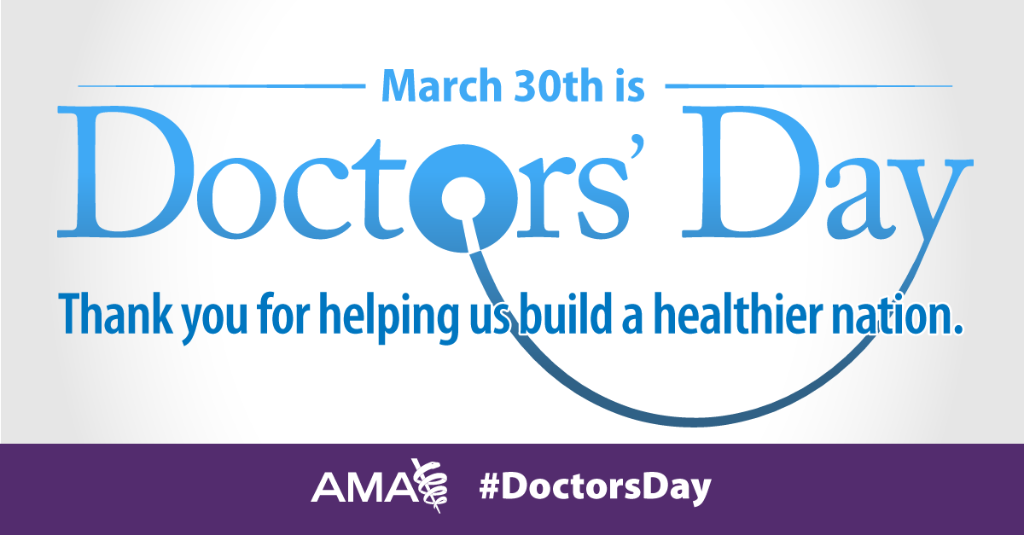 Proud to represent our nation's physicians. RT to show your appreciation for your doc! #AHealthierNation #DoctorsDay https://t.co/dgiVcCFld3
