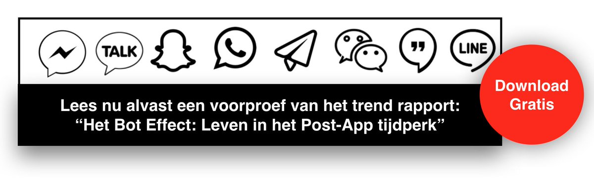 """Lees nu een voorproef van het trendrapport """"Het Bot Effect: Leven in het Post-App tijdperk"""" https://t.co/ft01SnXz52 https://t.co/HhFGjhI0wl"""
