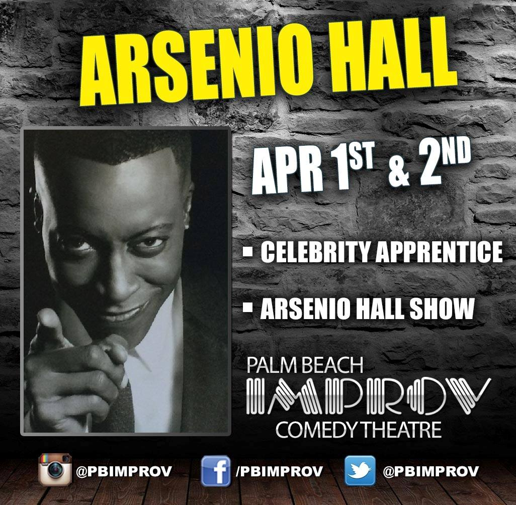 Were giving away 2 tickets to @ArsenioHall Fri 4/1  Follow, Retweet & Reply for chances to win! @cityplacewpb https://t.co/y6Q3BDuMDL