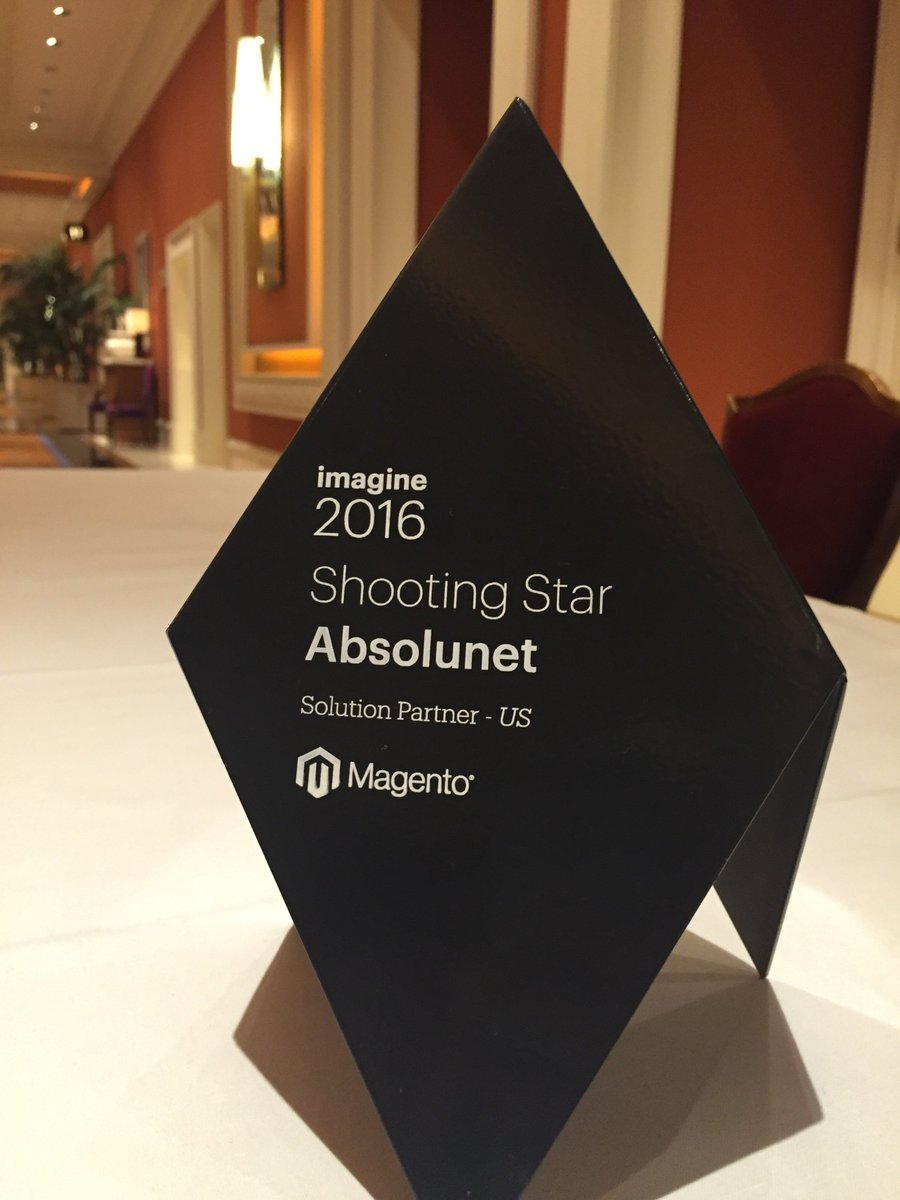 Absolunet: Thank you for this award! Congratulations to our team! #MagentoImagine @magento https://t.co/rEiFFyZEou
