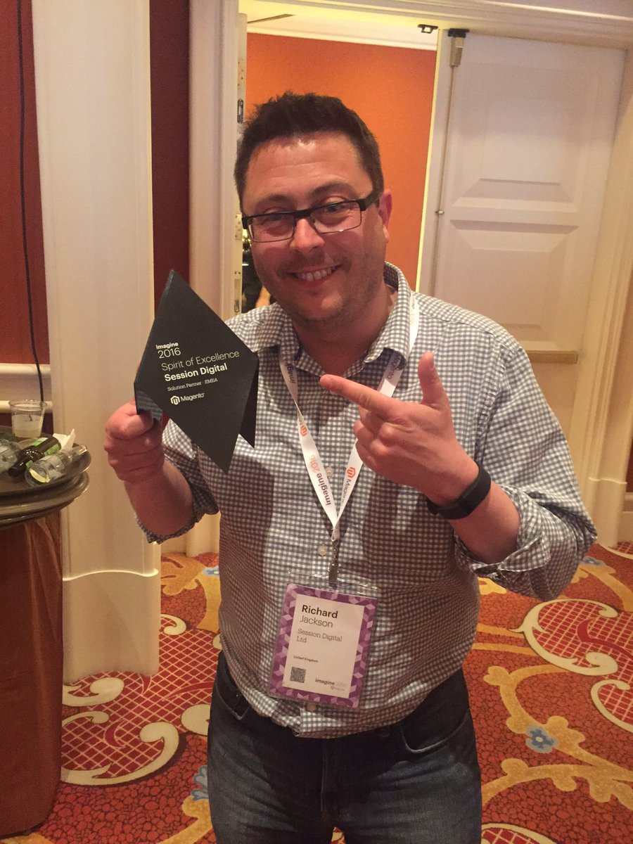 steph_k88: Congratulations to @sessiondigital on winning Spirit of Excellence award at #MagentoImagine https://t.co/2P45MFggl1