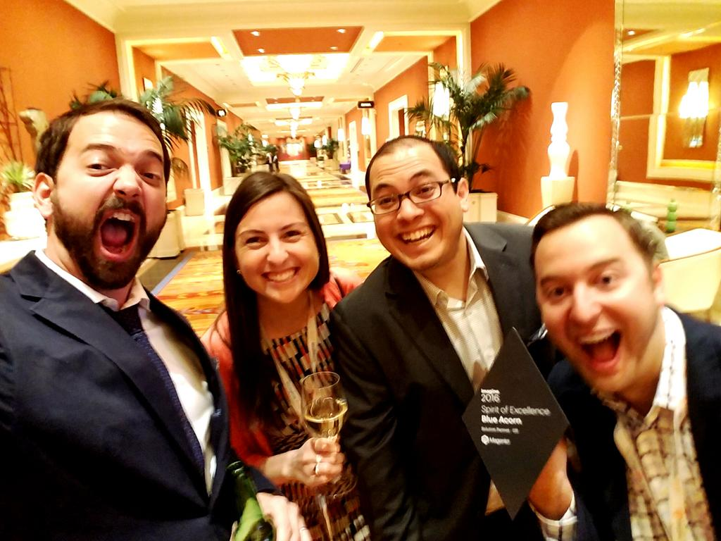 kpe: Proud recipient of this year's @magento Spirit of Excellence Award - congrats to all of the winners #MagentoImagine https://t.co/3WdoIoWKzo