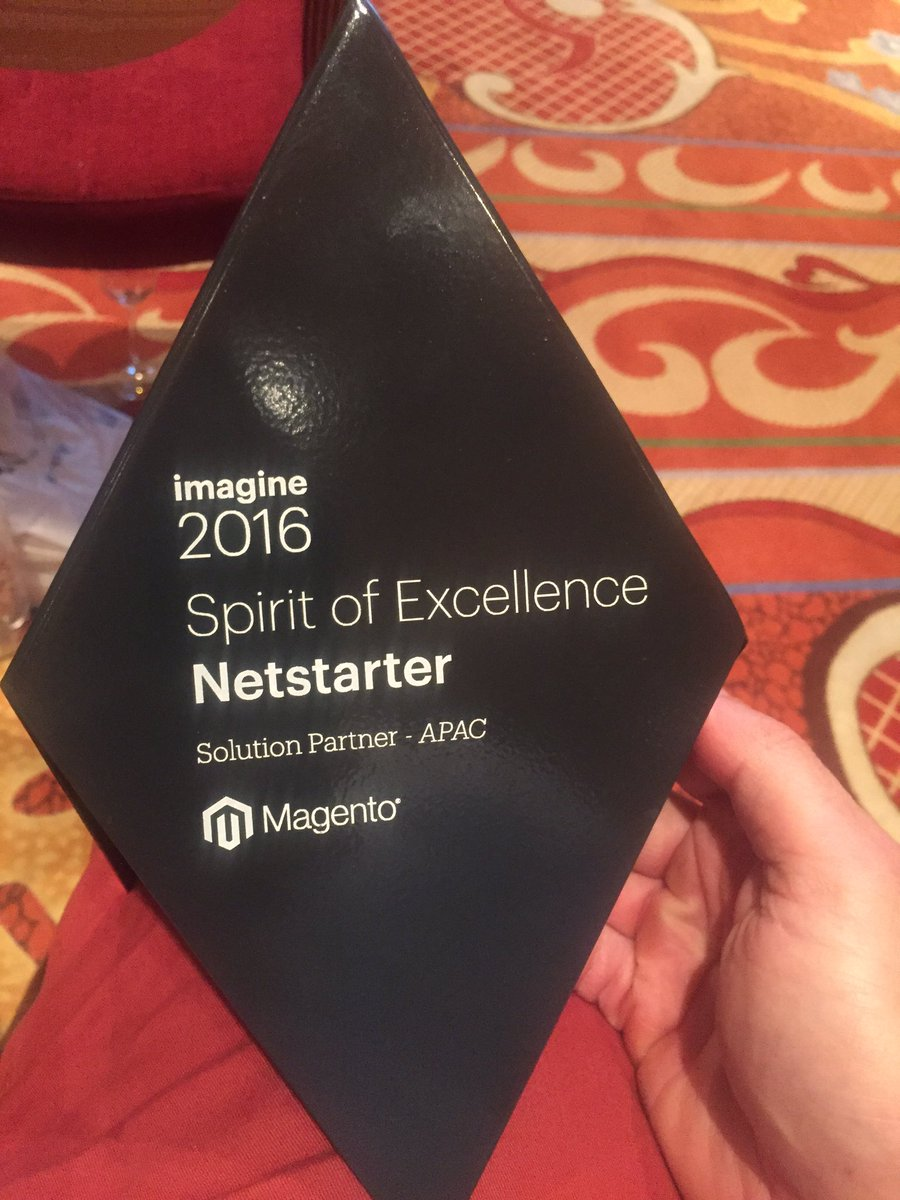 netstarter: We won the Spirit of Excellence award for the 3rd consecutive time at #MagentoImagine #magento https://t.co/zDUA8ecDbC