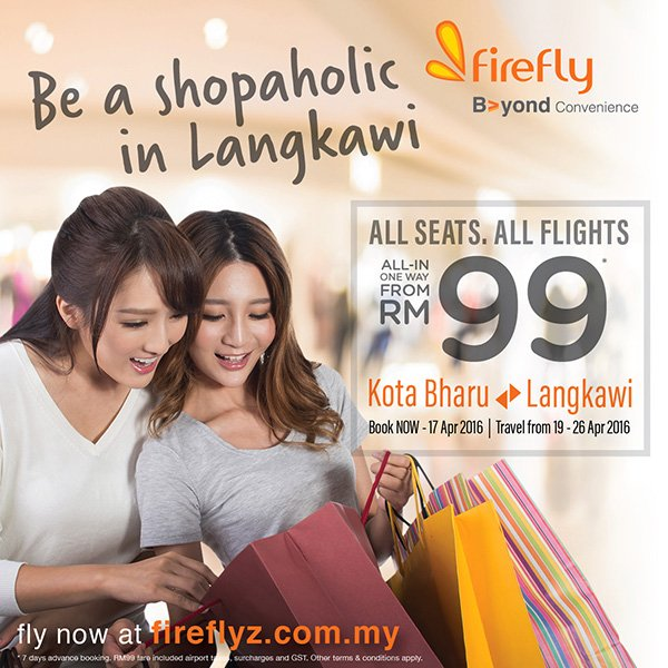 Good news for all now from Kota Bharu to Langkawi and shop till you drop!