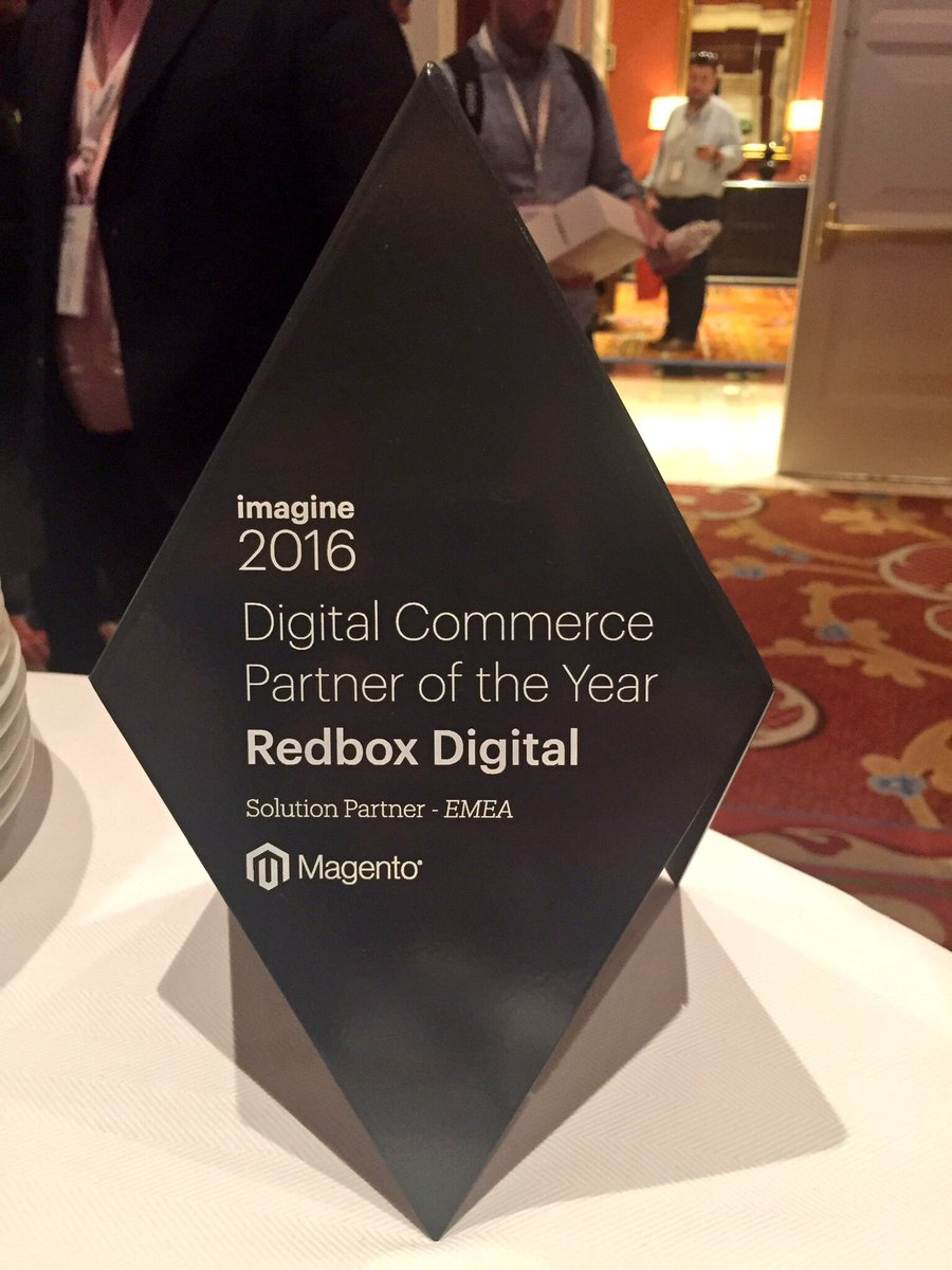 redboxdigital: Thrilled to have won the @magento EMEA Digital Commerce Partner of the Year Award! #MagentoImagine #Imagine2016 https://t.co/I47P4ezlRH