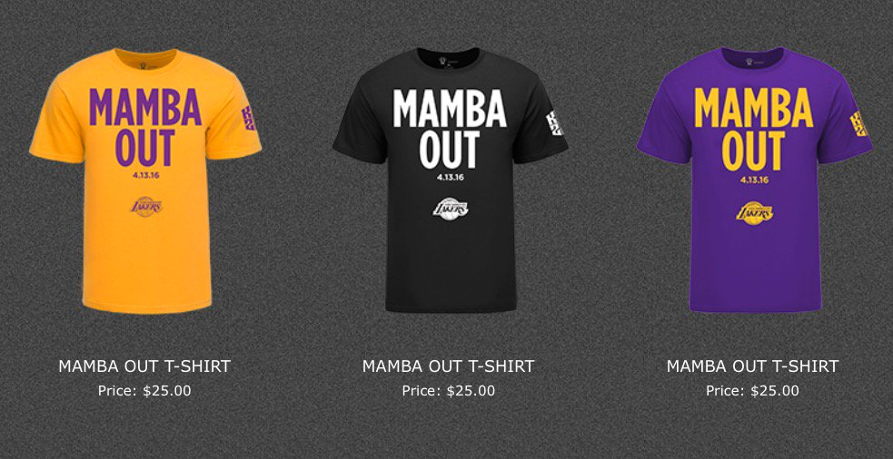 Zrbjdy mambaday kobe bryant s website began selling for Sell shirts on your website