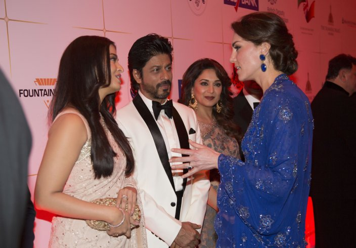 Royal couple William and Kate meet Bollywood film stars at Taj Mahal Palace hotel in India