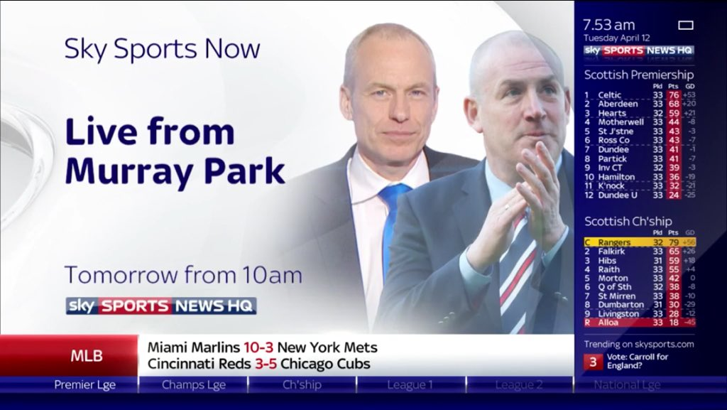 Calling all #Rangers fans, @SkySportsNewsHQ hosted live from Murray Park from 10am this Wednesday. Please share... https://t.co/x8kn9odH7Q
