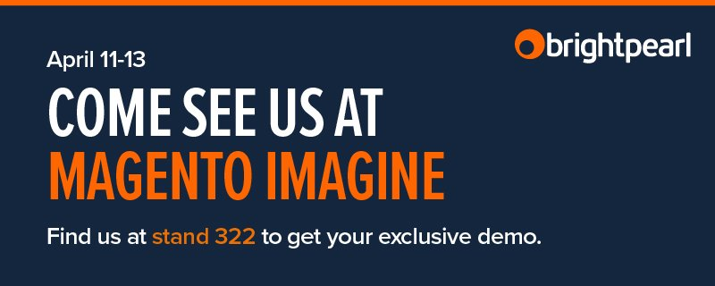BrightpearlHQ: Fancy teaming up with us? Let's chat at #MagentoImagine! Visit booth 322 or tweet us to arrange a meeting https://t.co/ZLivTzOgO2