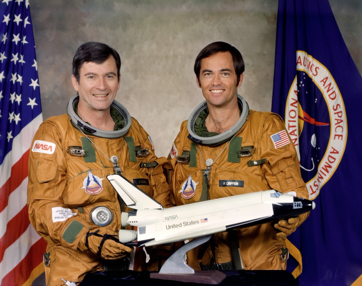 35 years ago today, STS-1 launched.  Happy anniversary and thanks to those who made it happen!! https://t.co/qbHo5hLwZv