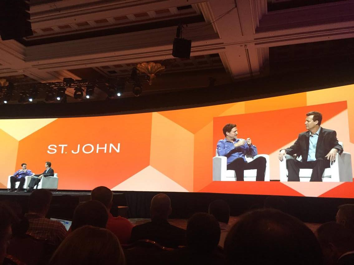 vaimoglobal: CIO of St. John, Scott Huckleberry, chats with Mark Lavelle @StJohnKnits #MagentoImagine #Vaimo #Imagine2016 https://t.co/0hfzl8TAUs